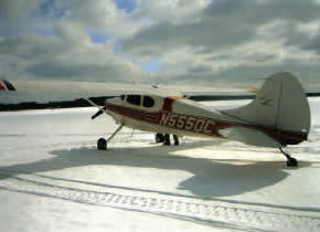ike waltonlodge winter plane landing